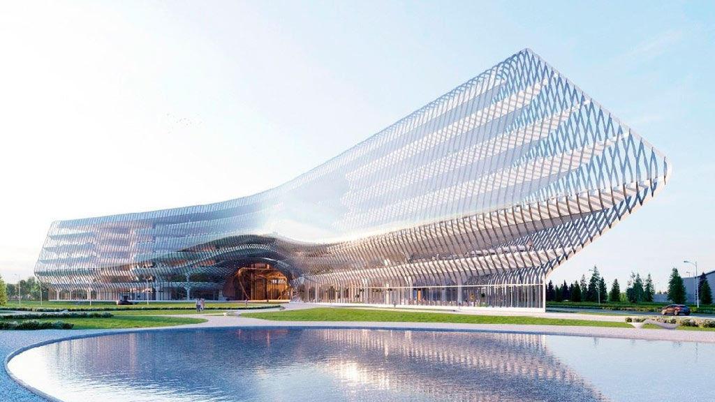 Здание технопарка ПАО Сбербанк на территории Сколково